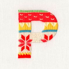 Embroidered letter by Maricor/Maricar