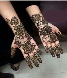 Most Elegant And Adorable Bridal Mehndi Designs Full Hands 2019 Rose Mehndi Designs, Finger Henna Designs, Modern Mehndi Designs, Bridal Henna Designs, Mehndi Designs For Girls, Beautiful Henna Designs, Mehndi Designs For Fingers, Dulhan Mehndi Designs, Latest Mehndi Designs