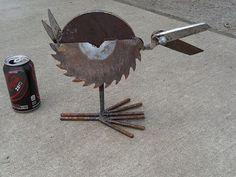 Yard Bird 10 - welded yard art