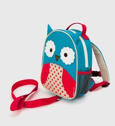 Zoo-let rucksack with reins - Owl. Sweet little 'pack-pack'!