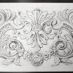 Leaf Design, Design Art, Peacock Drawing, Tattoo Filler, Ornament Drawing, Leather Tooling Patterns, Engraving Art, Aquarium Design, Themes Photo
