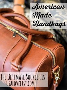American Made Handbags: The Ultimate Source List