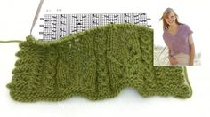 How to knit A.1 for size S/M in DROPS 167-11
