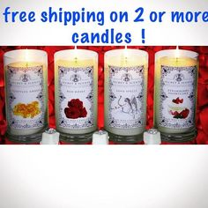 Good news, you can get free shipping! Scented Candles, Pillar Candles, Jewelry Candles, Good News, Artisan, Fashion Jewelry, Lily, Free Shipping, Canning