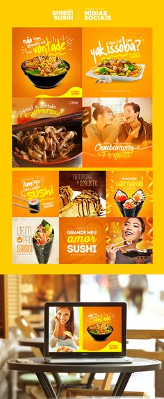 Shisei Sushi - Mídias Sociais on Behance - Tap the link to shop on our official online store! You can also join our affiliate and/or rewards programs for FREE Social Media Branding, Social Media Ad, Social Media Banner, Social Media Template, Social Web, Web Design, Food Graphic Design, Social Media Design, Flat Design