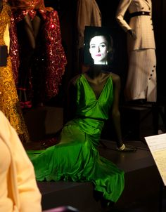 Green Dress- Kiera Knightley's dress from the Atonement as featured in the Hollywood Costume Exhibition at Federation Square Melbourne right now. Hollywood Costume, The V&a, Costume Design, Green Dress, Pretty Dresses, Everyday Fashion, Gowns, Costumes, Film