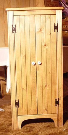 Exceptionnel Jelly Cupboard   2 Door   Grooved