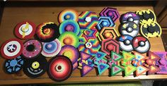 Unique Perler Fidget Spinner choose your own pattern Made to