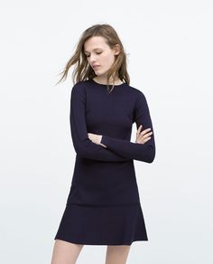 Image 1 of LONG SLEEVE MINI DRESS from Zara