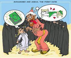 Iran Politics Club: Prophet Muhammad & Aisha his Child Bride Cartoons - IPC
