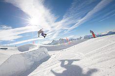 Schneebeben Davos Snowpark, Snowboard jump Davos, Snowboard, Skiing, Natural, Dwarf, Snow, Ski, Nature, Au Natural