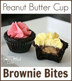 Peanut Butter Cup Brownie Bites 1