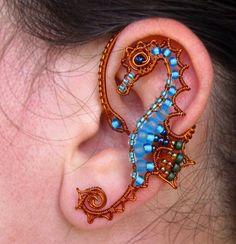 jewelry earrings seahorse ear cuffs wire wrapped