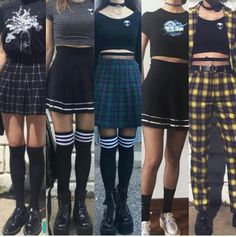 Edgy Outfits – Page 7577948192 – Lady Dress Designs K Fashion, Grunge Fashion, Cute Fashion, Korean Fashion, Fashion Outfits, Grunge Outfits, Edgy Outfits, Fall Outfits, Cute Punk Outfits