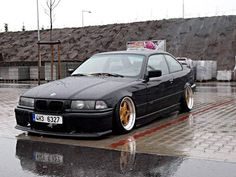 BMW e36 coupe on perfectly fitted BBS RF cult wheels