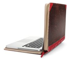 "The BookBook by 12 South, a company that designs computer accesories for Apple products, is a clever and smart way to both disguise and protect your 13"" or 15"" MacBook or MacBook Pro. Faux vintage books with rigid covers become zippered cases with protective padded interiors for your laptop."