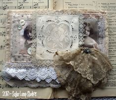 Whispers & Lace Fabric Journal