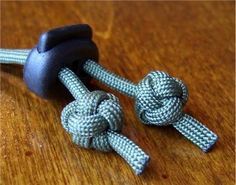 The Celtic button knot looks like the lanyard knot, but is tied with a single working end. I find them useful as a decorative stopper/termi...