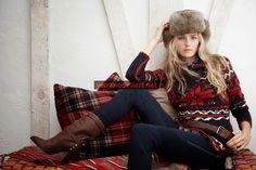 Yeni sezon bayan Örgü Kazak Modelleri