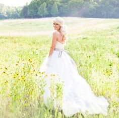 Emily Maynard in her wedding dress.