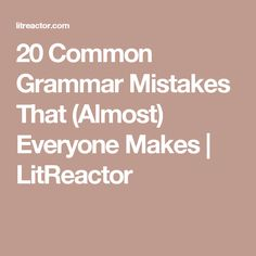 20 most common writing errors