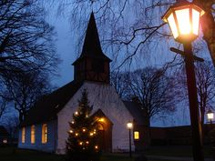 Church of Hasle, christmas eve 2008 B by carstenfonsdal, via Flickr