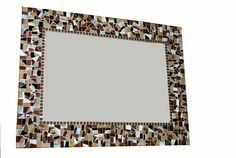 Brown Mosaic Mirror Wall Art by GreenStreetMosaics on Etsy, $150.00