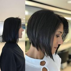 Go for that bold look with one of these hot short dark hair color ideas! I've featured some of this year's hottest short haircuts and boldest dark colors for your inspiration! hair styles 18 Best Short Dark Hair Color Ideas of 2020 Bob Hairstyles For Fine Hair, Medium Bob Hairstyles, Short Dark Hairstyles, Crazy Hairstyles, Inverted Bob Haircuts, Long Haircuts, 2015 Hairstyles, Casual Hairstyles, Pixie Haircuts