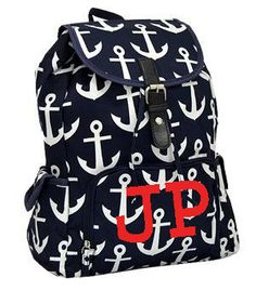 Personalized Anchor Back Pack Diaper Bag By Sewsassybootique Backpack