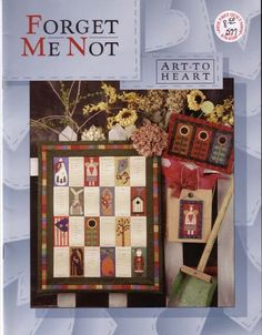 Album Archive - Revistas Art to Heart Cat Quilt, Book Quilt, Book Crafts, Diy Crafts, Sunflower Quilts, Sewing Magazines, Punch Needle Patterns, Quilted Gifts, Vintage Cross Stitches