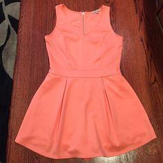 Orange romper front like skirts Nice romper neon orange Charlotte Russe Pants Jumpsuits & Rompers