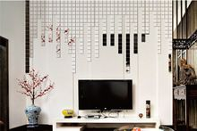 New 2015 Free Shipping 4 color 100pcs 3D Wall Sticker Mosaic Mirror Sofa living Room Decoration(China (Mainland))