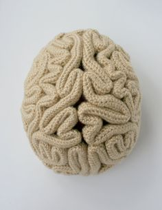 """The Brain Beanie Crochet Pattern Instructions. Gives new meaning to the concept of """"thinking cap?"""""""
