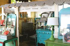 The Modern Cottage--LOVE LOVE LOVE..look at that bright turquoise with green and yellow...I'm so in heaven. :-)