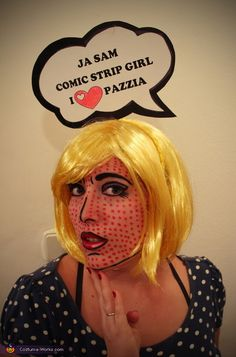 Disfraz chica pop-art
