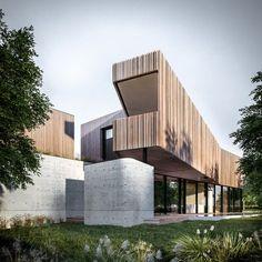 Modern Architecture Building Apartments – My Ideas Timber Architecture, Australian Architecture, Australian Homes, Residential Architecture, Amazing Architecture, Architecture Design, Riverside House, Facade Design, Facade House