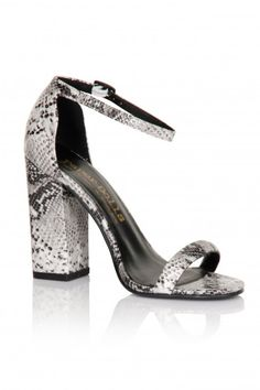 271468822 Paper Dolls Footwear Snakeskin Two Strap Heels - Paper Dolls Footwear from Little  Mistress UK Strap