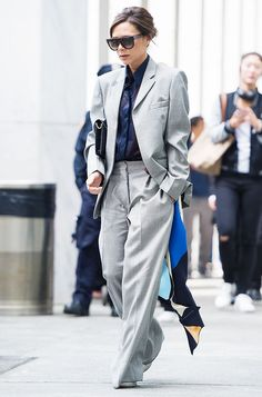 Victoria Beckham demonstrates an effortless way to make a statement in a suit.