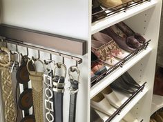 Closet Maid Belt Accessories. This websites great it has a lot of solutions for inbuilt/small closets, not just walk ins.