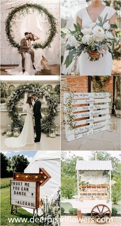 rustic greenery wedding ceremony shade and decoration concepts marriages greenwedding weddingideas wedding ceremony deerpearlflowers