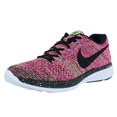 4eb468b86ff Nike Womens WMNS Flyknit Ghost GreenBlackPink Foil Fabric Size 10     Read  more at the image link. Athletic Shoes For Women