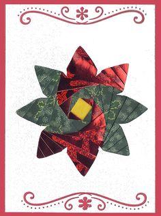 Poinsettia Iris Folding Christmas Card