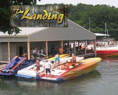 The Landing Grill at Tellico Marina Lakeside Dining, Lakeside Restaurant, Landing, Grilling, Deck, Boat, Dinghy, Crickets, Front Porches