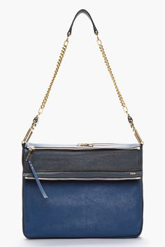 Vanessa Bag - Chloe. Motherfucking GORGEOUS. Architectural, bluuuuuue, perfection.