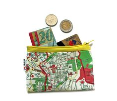 JERUSALEM map wallet souvenir from Israel the holy land by efratul, $10.00