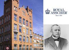 De firma I.J. Asscher werd in 1854 aan de Nieuwe Achtergracht in Amsterdam opgericht door de Amsterdams-Joodse diamantslijper Joseph Isaac Asscher (1816-1893). De firma liet in 1906 door architect Gerrit van Arkel een nieuwe diamantslijperij bouwen in De Pijp in Amsterdam. Het gebouw is nu een rijksmonument (nr. 527800). Sinds 1936 heet het bedrijf Koninklijke Asscher Diamant Maatschappij. In 1980 werd het predicaat Koninklijk verkregen.