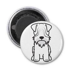 Cesky Terrier Dog Cartoon Fridge Magnet