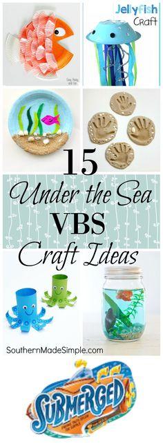 15 Craft Ideas for VBS Submerged Lifeway Theme #submerged #lifeway #underthesea