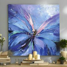 Decorative oil paintings on request. - Cuadros a la Carte - - Decorative oil paintings on request. - Cuadros a la Carte Butterfly Painting, Butterfly Art, Flower Art, Butterflies, Acrylic Pouring Art, Acrylic Art, Acrylic Painting Inspiration, Art Abstrait, Abstract Flowers