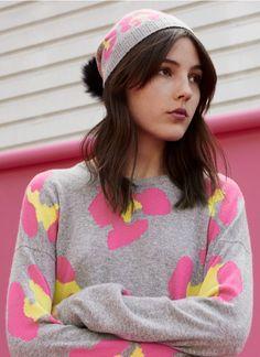 Neon & Grey - Love the bright colour pop! Colour Pop, Color, Creative Director, Cashmere Sweaters, Knitwear, Neon, Bright, Grey, Hats